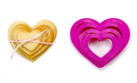 Decora Heart cutters set/4