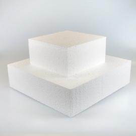 Taart dummie vierkant 10cm, 20x20cm