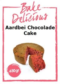 Bake Delicious Aardbei Chocolade Cake 480 gram