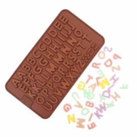 Chocoladevorm mal alfabet letters siliconen vorm