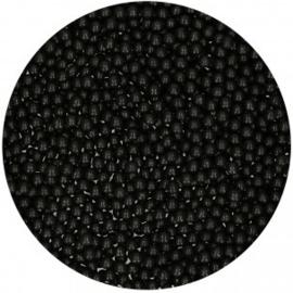 FunCakes Suikerparels 4mm -Zwart Glans- 80gr.