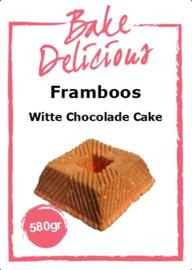 Bake Delicious Framboos Witte Chocolade Cake 580 gram.