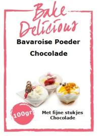Bake Delicious Bavaroise Chocolade 100gr met stukjes Chocolade.