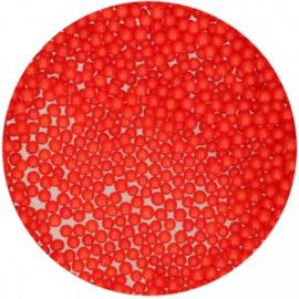 FunCakes Suikerparels 4mm -Rood Glans- 80gr.