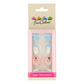 FunCakes Suikerdecoratie Baby Jongen Set/8