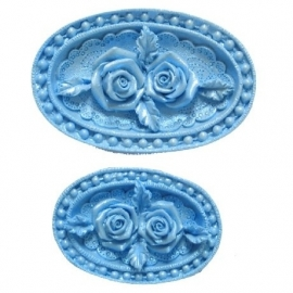 First Impressions Molds Rose Medallions set/2