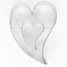 Koekjes Uitsteker Sierlijk Hart in Hart 7 cm