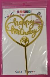 Happy Party  Cake Topper Happy Birthday (Hart)