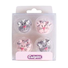 Culpitt Suikerdecoratie Katten pk/12