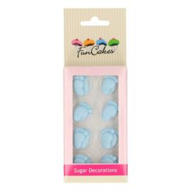 FunCakes Suikerdecoratie Baby Voetjes Blauw Set/16