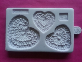 Karen Davies Crochet Hearts Mould