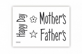 Stempel impressit™ Happy Mother's Father's Day.  art.nr: 35p-315