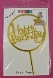 Happy Party  Cake Topper Happy Birthday