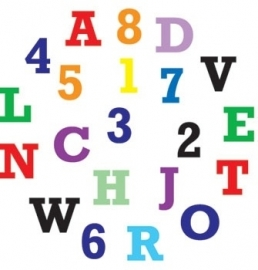 FMM Alphabet & Numbers Tappits Upper Case.