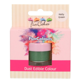 FunCakes Edible FunColours Dust - Holly Green