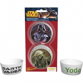CUPCAKE BAKING CUPS STAR WARS, 50 stuks