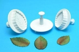 PME Rose Leaf Plunger Cutter set van 3 extra large