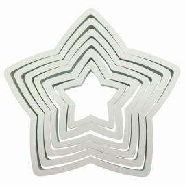 PME Plastic Cutter Star Set/6. Art.nr: PNS6