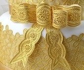 Vintage Bows Large Cake Lace mat by Claire Bowman. Art.nr: CL-16