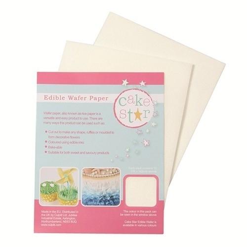 Cake Star Edible Wafer Paper -White- pk/12 ft
