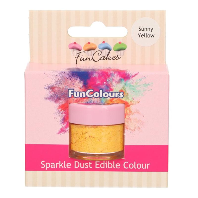 FunCakes Edible FunColours Sparkle Dust - Sunny Yellow