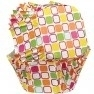 Wilton Square Baking Cup -Warm Squares- pk/24