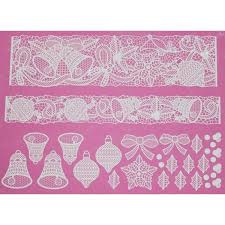 Bells And Bows Large Cake Lace Mat