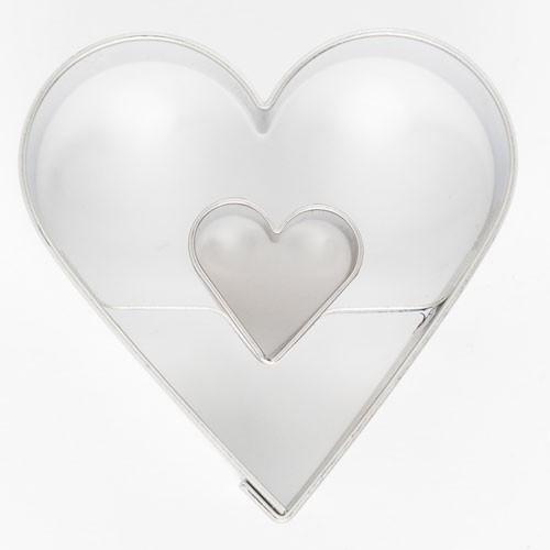 Koekjes Uitsteker Hart in Hart 4,5 cm