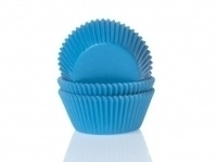 House of Marie Mini Baking Cups Effen Cyaan Blauw (60 st.)