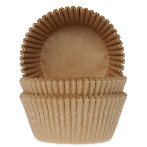 House of Marie Baking Cups Kraft pk/50