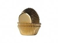 House of Marie Mini Baking Cups Goud (36 st.). Art.nr: HM4419