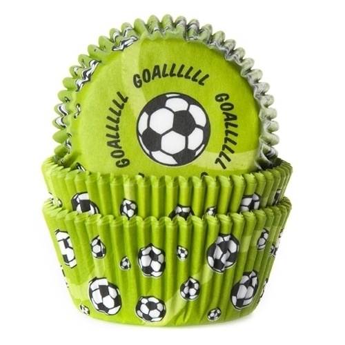 House of Marie Baking Cups Voetbal Groen (50 st.)