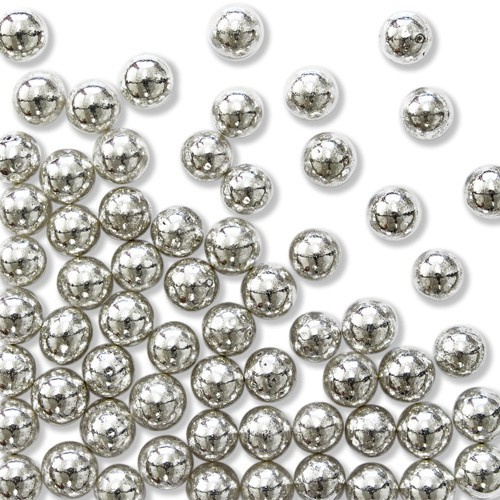 PME Sugar Pearls Silver 6mm 25g