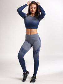 Legging en Croptop XXL sportswear blauw