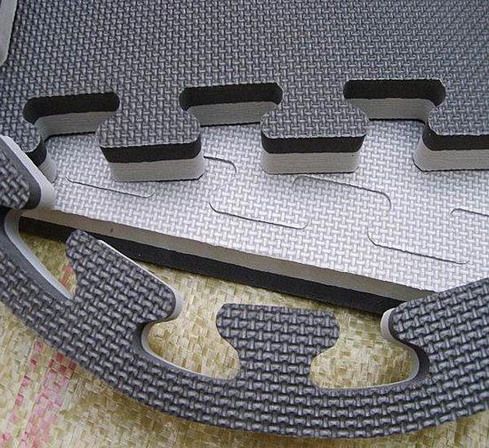 Legend | Puzzelmat - 100 x 100 - 4cm - zwart/grijs