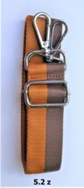 Designerstyle schouderriem 2 strepen (2 kleurencombi's) zilver