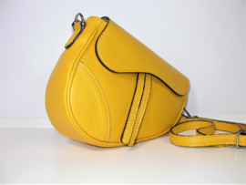 IT BAG leren saddlebag zonnebloem geel