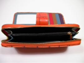 Leren portemonnee croco mandarin large