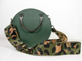 Designerstyle schouderriem animalmotief (3 kleurencombi's) donkerzilver