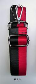Designerstyle schouderriem 2 strepen (2 kleurencombi's) donkerzilver