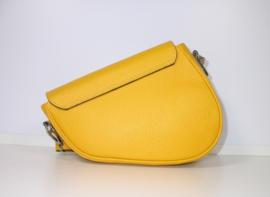 IT BAG leren saddlebag zonnebloem geel