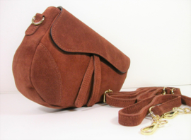 IT BAG Suèdeleren saddlebag trendy tan