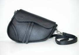 IT BAG leren saddlebag zwart