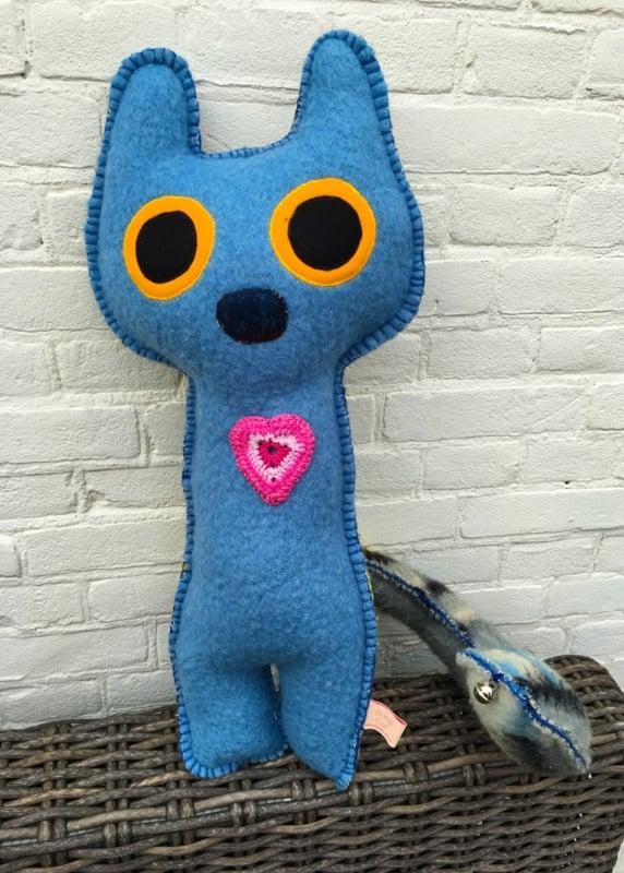 Uit eigen atelier: B-ing Cat Blue Harmony (big)  (nr 17)