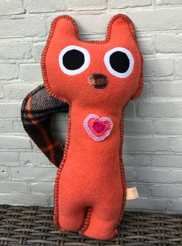 Uit eigen atelier: B-ing Cat Orange Red Ray (big)   (nr 4)
