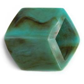 Cube Turquoise Shiny