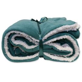Vlies deken 150 x 200 cm Teal Green