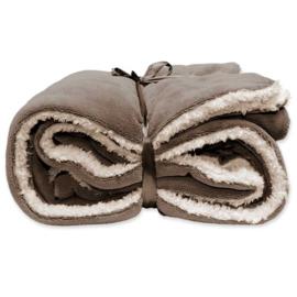 Vlies deken extra groot 150 x 200 cm Taupe