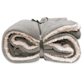 Vlies deken extra groot 150 x 200 cm Grey