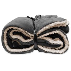 Vlies deken extra groot 150 x 200 cm Dark grey